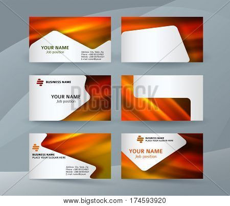 Business Card Layout Template Set19