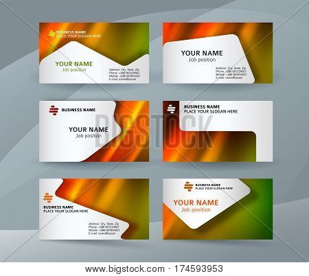 Business Card Layout Template Set20