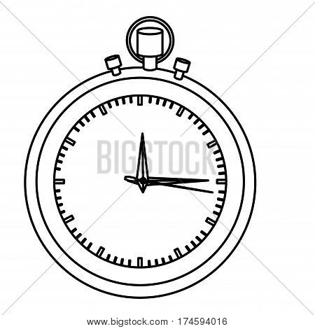 silhouette stopwatch graphic icon flat vector illustration
