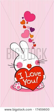 Ich liebe dich Hase mit Herz.