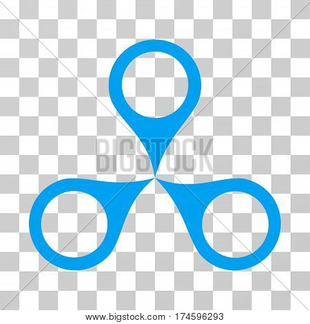 Map Markers icon. Vector illustration style is flat iconic symbol, blue color, transparent background. Designed for web and software interfaces.