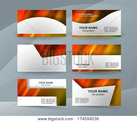 Business Card Layout Template Set22