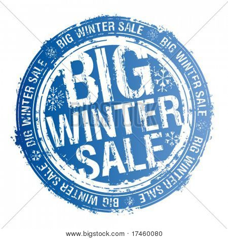 Big winter sale rubber stamp.