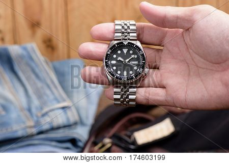 Luxury Wristwatch On The Wrist