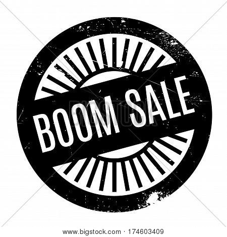 Boom Sale rubber stamp. Grunge design with dust scratches. Effects can be easily removed for a clean, crisp look. Color is easily changed.