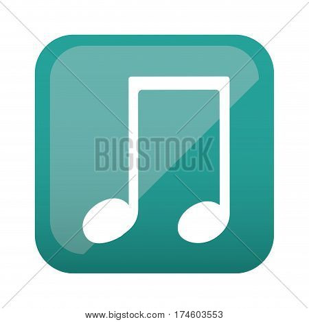 color square with musical note vector illustration