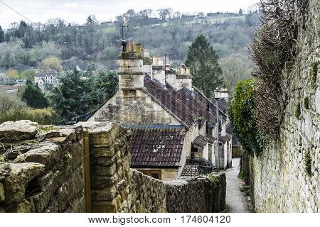 Settlement in Bradford on Avon in England.