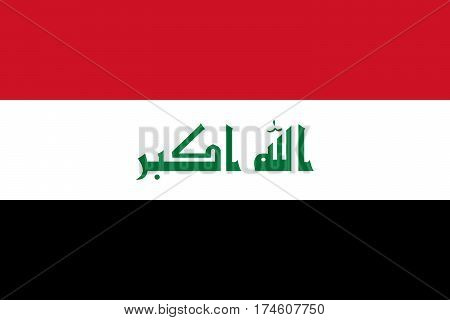 The Official vector flag of Iraq .