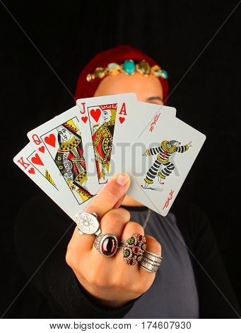 Lady Of The Ring Holds All The Cards / Lady Of The Ring Holds The Game Cards