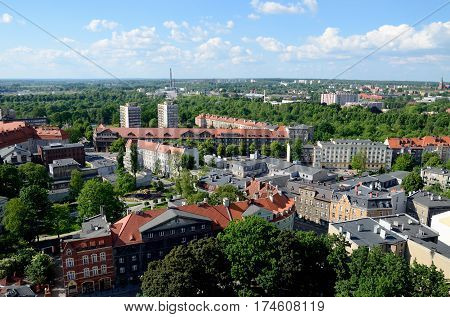 View of the Gliwice in Poland (Silesia region)