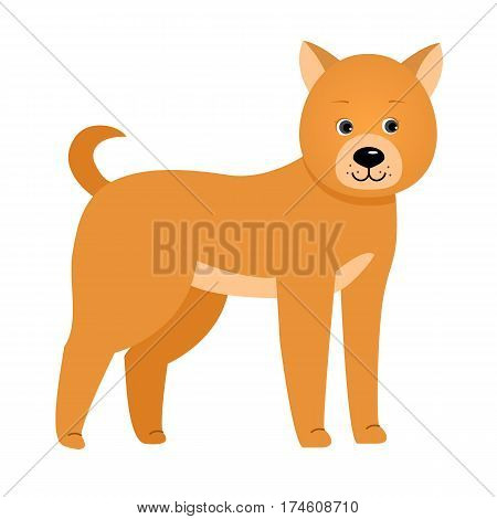Dog. Illustration for children. Design element for baby shower card, scrapbook, invitation, children goods and childish accessories. Isolated on white background. Vector illustration.