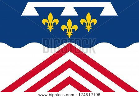 Flag of Eure-et-Loir is a French department named after the Eure and Loir rivers.