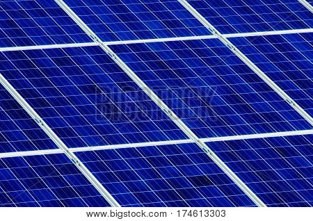 Photovoltaic solar cell panels as renewable energy source