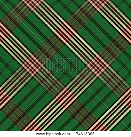 Tartan Seamless Pattern Background. Red Black Green and Beige Plaid Tartan Flannel Shirt Patterns. Trendy Tiles Vector Illustration for Wallpapers.