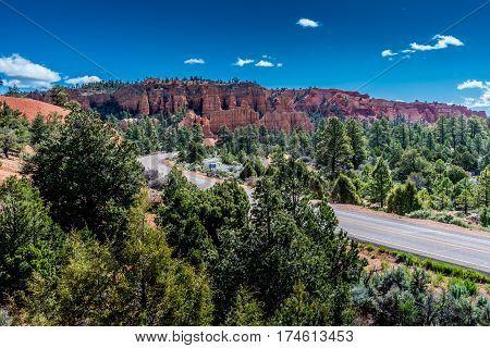 Colorful Hoodoo Rock Formations Near Bryce Canyon National Park, Utah.