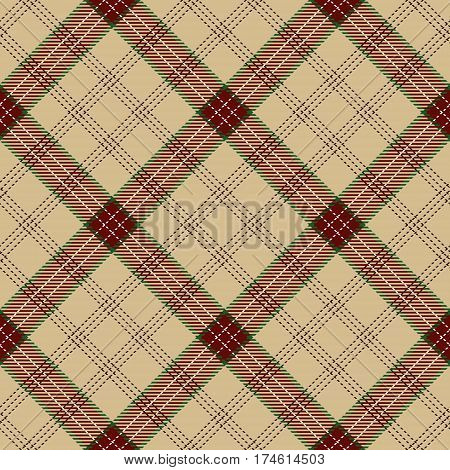Tartan Seamless Pattern Background. Red Camel Beige Green and White Plaid Tartan Flannel Shirt Patterns. Trendy Tiles Vector Illustration for Wallpapers.