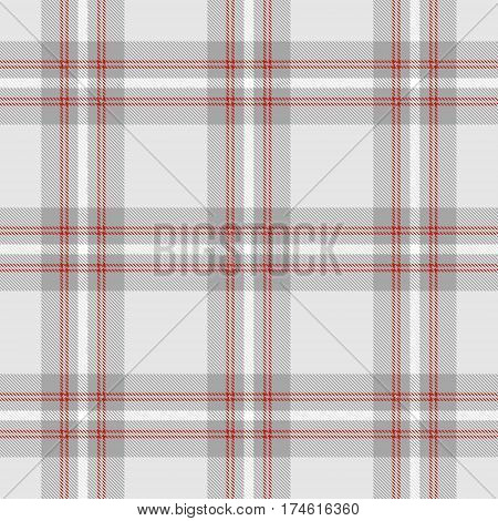 Tartan Seamless Pattern Background. Gray Red and White Plaid Tartan Flannel Shirt Patterns. Trendy Tiles Vector Illustration for Wallpapers.