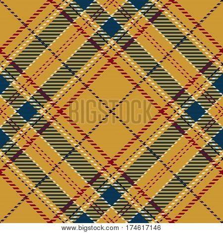 Tartan Seamless Pattern Background. Red Black Gold Blue and White Plaid Tartan Flannel Shirt Patterns. Trendy Tiles Vector Illustration for Wallpapers.
