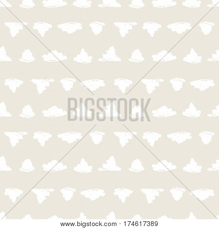 Seamless pattern with hand drawn shapes background. Geometric graphic design element. Scrapbook wallpaper. Vector illustration. Random brush strokes. Beige white texture.