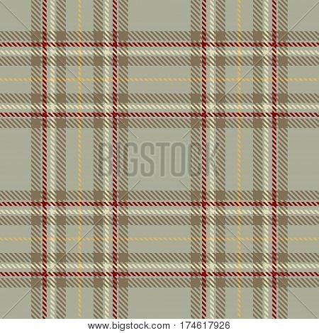 Tartan Seamless Pattern Background. Red Brown Gold and White Plaid Tartan Flannel Shirt Patterns. Trendy Tiles Vector Illustration for Wallpapers.