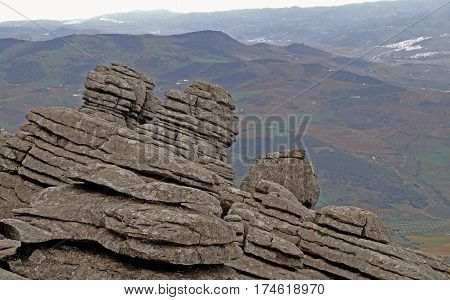 El Torcal de Antequera is a nature reserve in the Sierra del Torcal mountain range located south of the city of Antequera in the province of Málaga off the A45 road in Andalusia Spain. It is known for its unusual landforms and is one of the most impressiv
