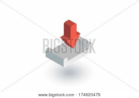 loading shipment isometric flat icon. 3d vector colorful illustration. Pictogram isolated on white background
