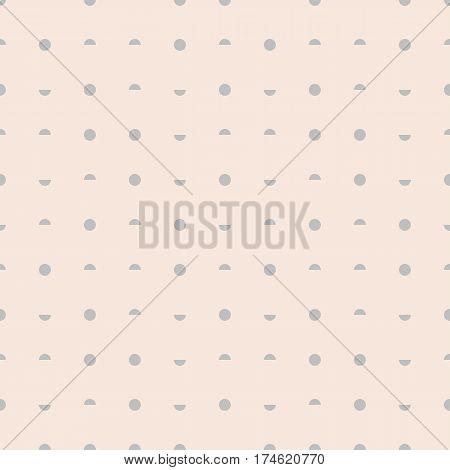 Seamless pattern stylish dots with circles and semi-circles