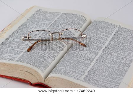 Book With Eye Glasses