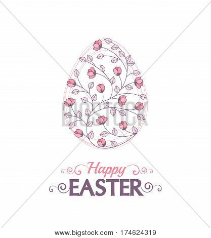 Vector Easter eggsVector illustration Easter eggs, decorations flowers and leaves