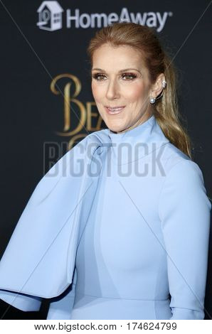 Celine Dion at the Los Angeles premiere of 'Beauty And The Beast' held at the El Capitan Theatre in Hollywood, USA on March 2, 2017.