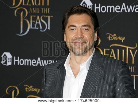 Javier Bardem at the Los Angeles premiere of 'Beauty And The Beast' held at the El Capitan Theatre in Hollywood, USA on March 2, 2017.