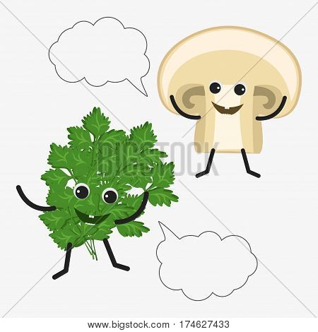 Parsley And Mushroom Character Icon