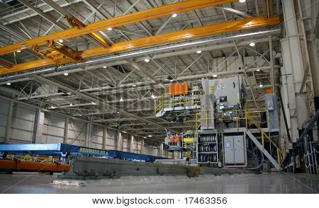 Inside Aerospace Production Facility