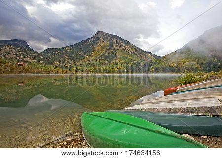 Autumn at Beaver Lake near Marble Colorado
