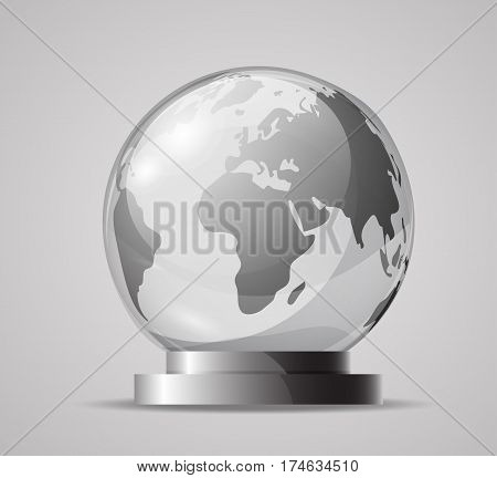 Glass Globe On A Stand.