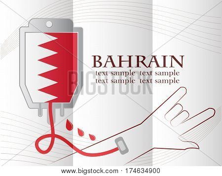 blood donation design made from the flag of Bahrain conceptual vector illustration.