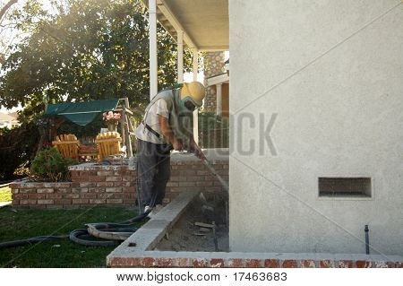Home Being Sandblasted in a Residential Area