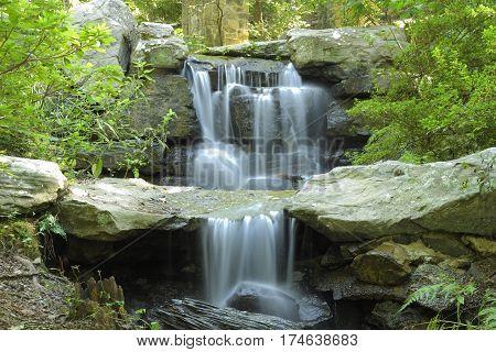 Small seasonal waterfall near Hot Springs Arkansas
