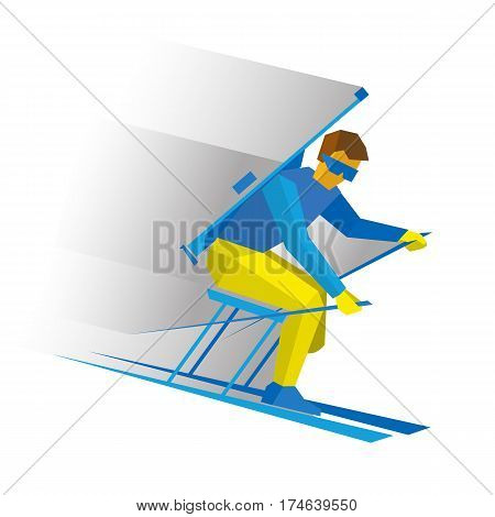 Disabled Biathlon Skier With A Rifle