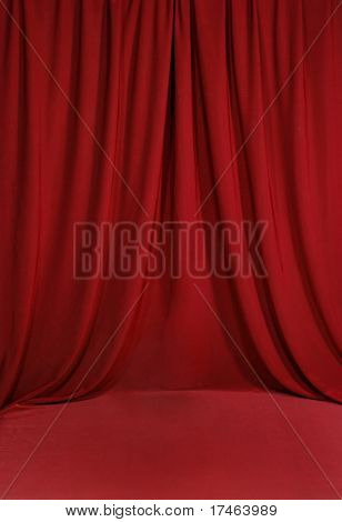 Red Draped Background Backdrop