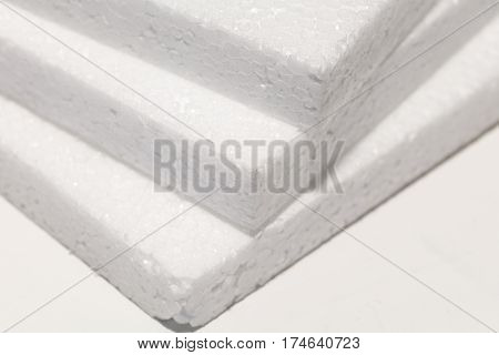 white foam board close up packaging material.