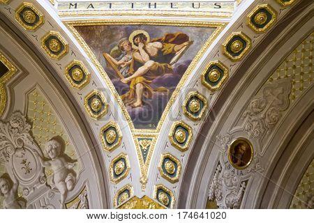 QUARTU S.E. ITALY - July 27 2013: Vault of the Basilica of St. Helena - Sardinia