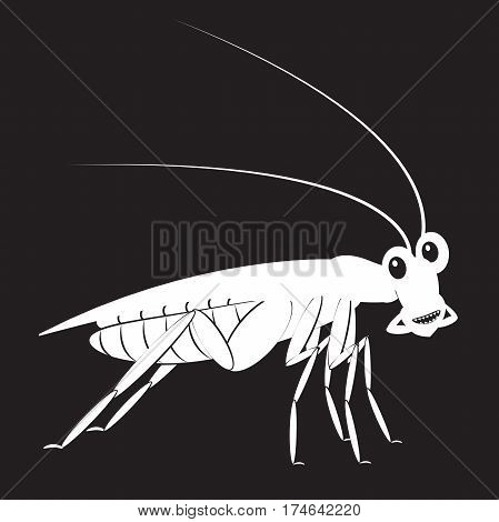 Stencil Funny Cockroach