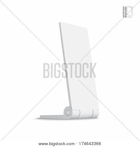 Simple outdoor indoor stander advertising stand banner shield display, advertising. Mock up products on white background isolated. Ready for your design