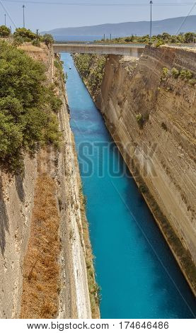 The Corinth Canal is a canal that connects the Gulf of Corinth with the Saronic Gulf in the Aegean Sea.