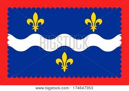 Flag of Indre is a department in the centre of France named after the river Indre