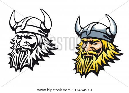 Ancient angry viking warrior as a mascot or tattoo. Jpeg version also available in gallery