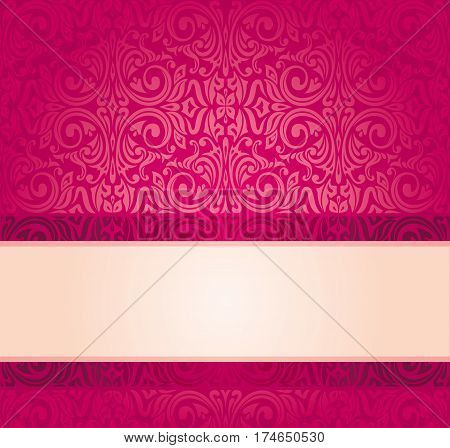 Red vintage invitation design with copy space