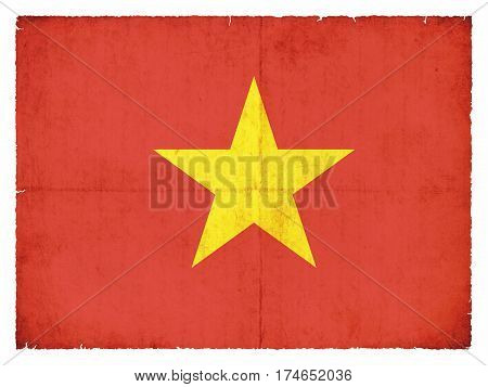 Grunge Flag Of The Vietnam