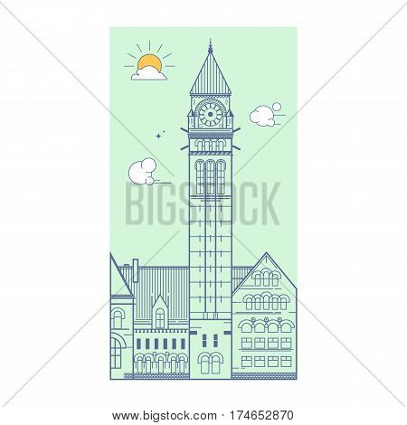 City Hall Toronto Canada Vector illustration Travel icon